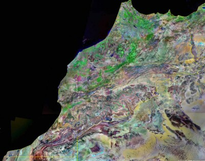 Satellite image of Morocco